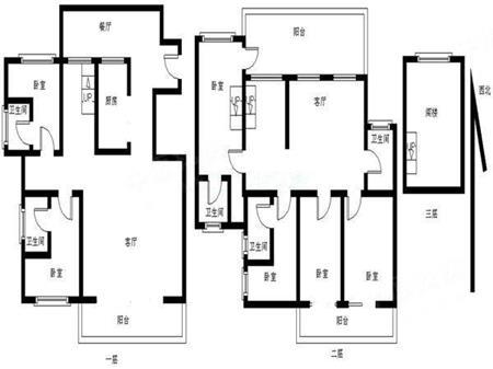 春华四季园三层电梯复试 六房 送露台 使用面积600平米