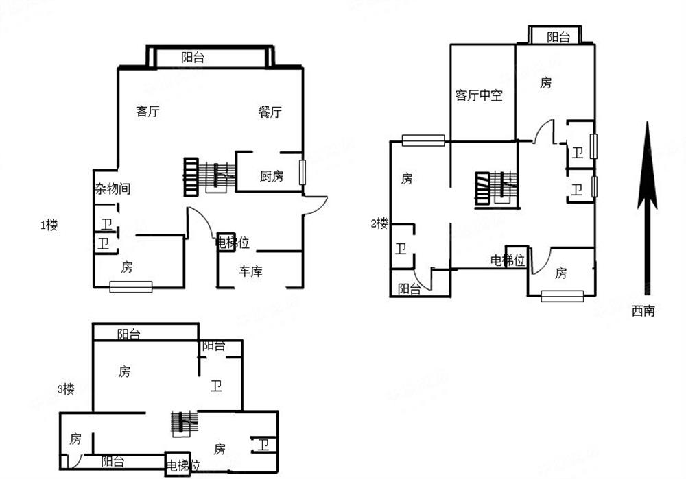 观湖园独栋别墅,上下5层,套内带电梯井,高端大气,一线临湖
