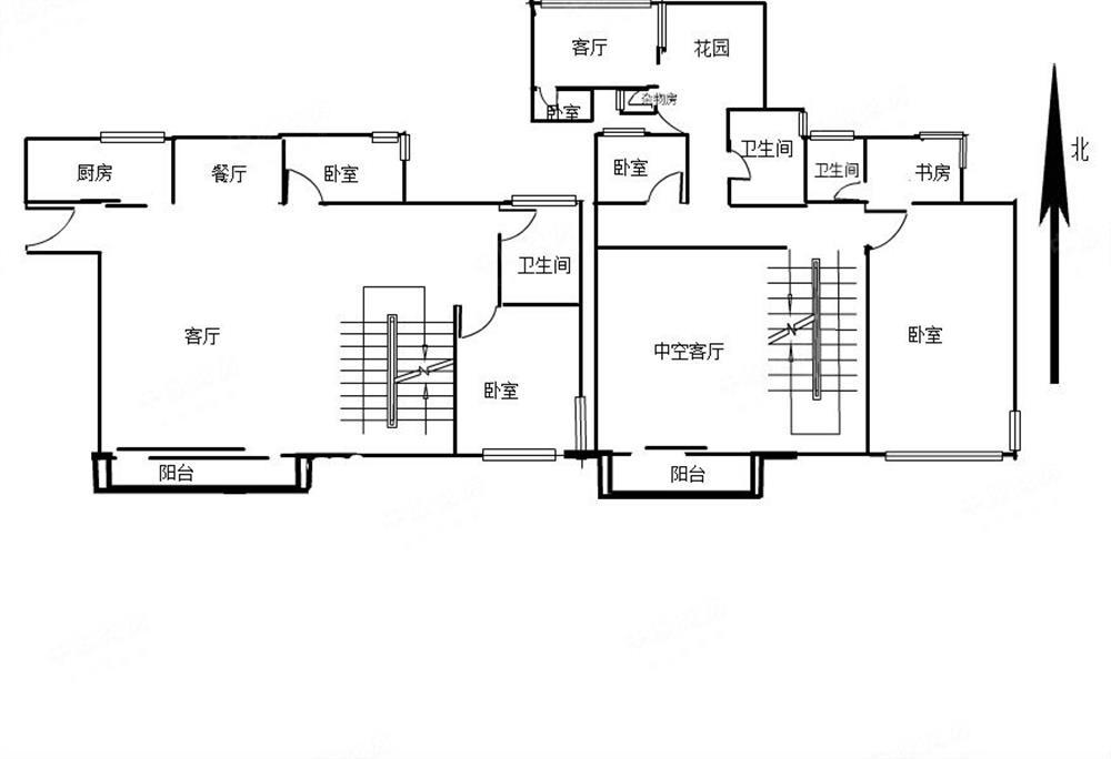 鸿景园顶楼复式,送私家花园,实用400平米送车位图片