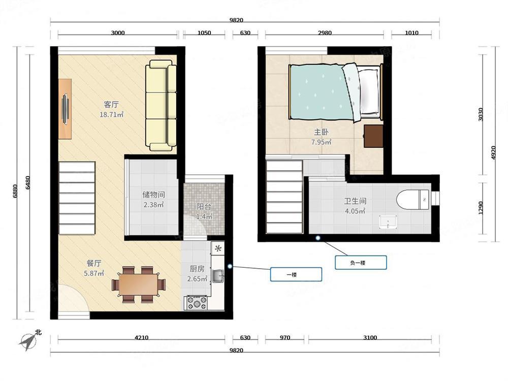 白金时代公寓-户型图图片