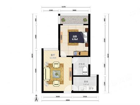 阳光花园!一房可改两房!包入住,业主诚意出售,价格有空间