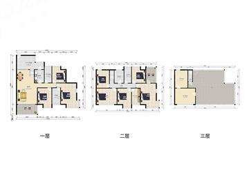 恒立听海 实用面积400平 顶楼花园 三层复式 南外双学位图片